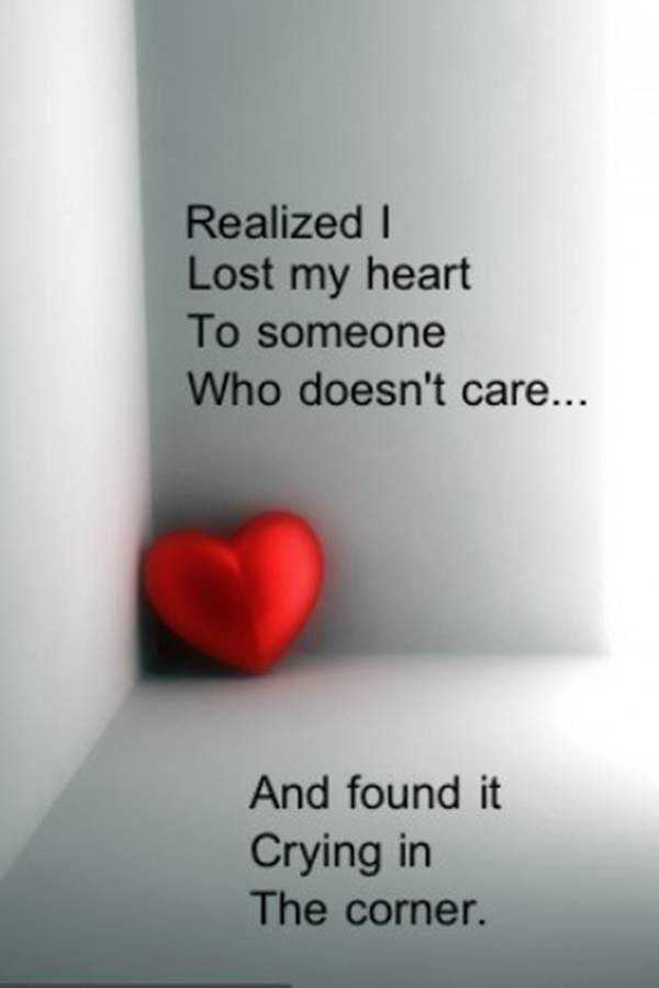 Sad Love Quotes I Lost My Heart to Someone
