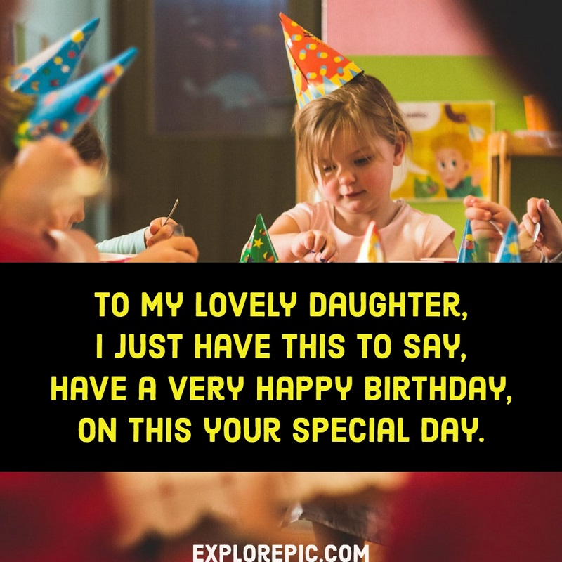Cutest Happy Birthday images for Daughter 1
