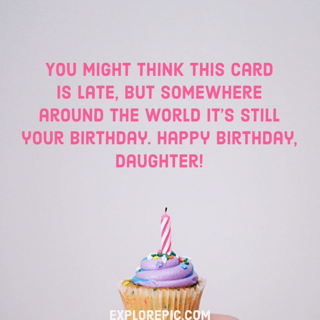Happy Birthday Images with Wishes for Daughter