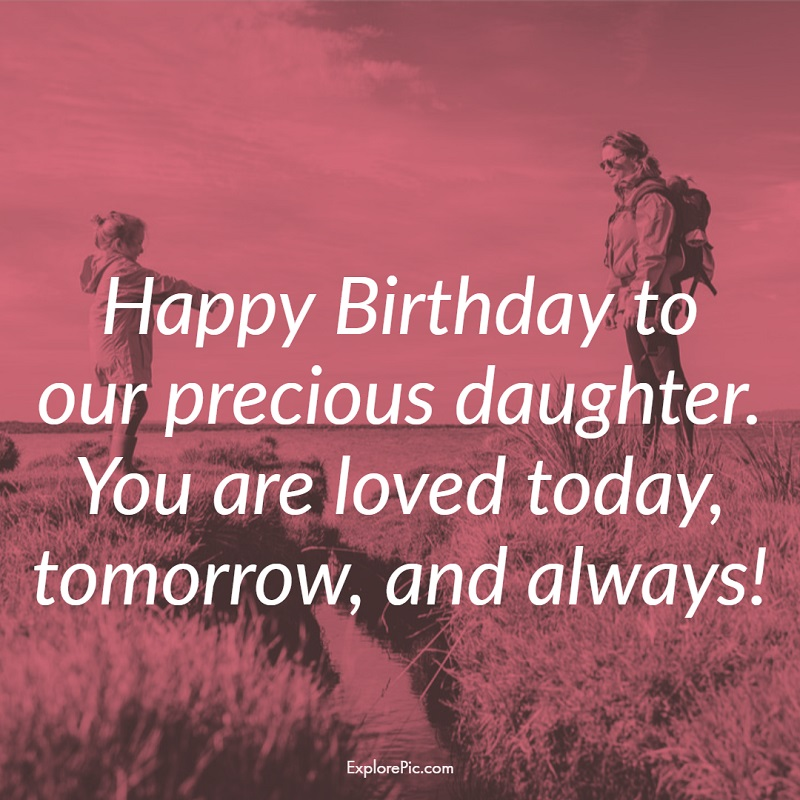 Happy Birthday to our precious daughter bday messages