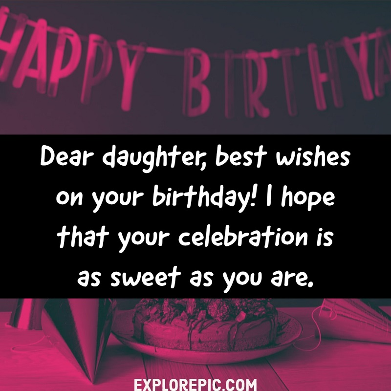 Admirable 28 Happy Birthday Wishes For Daughter Best Messages Quotes Personalised Birthday Cards Paralily Jamesorg