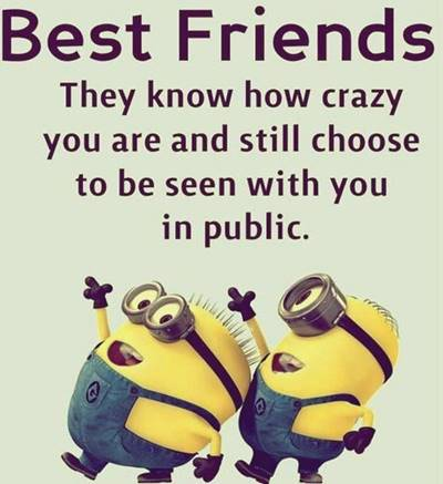 50 Crazy Funny Friendship Quotes for Cute Friends 34