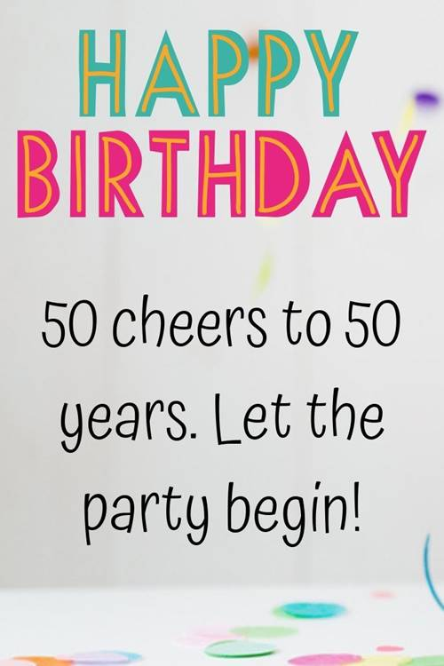 50th Birthday Wishes Messages Quotes 4