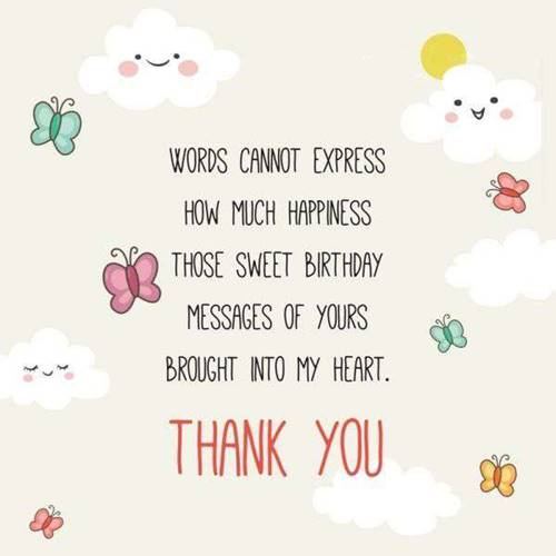 52 Best Thank You For Birthday Wishes images Thank you quotes belated thank you messages for birthday wishes thank you for all the birthday wishes images