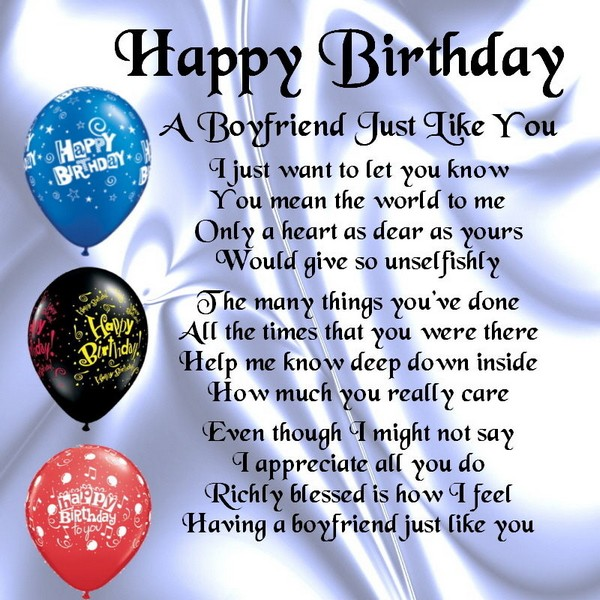 birthday poems for boyfriend happy birthday poems to boyfriend
