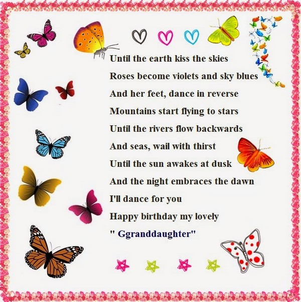 granddaughter poems for birthday wishes happy birthday messages poems and quotes