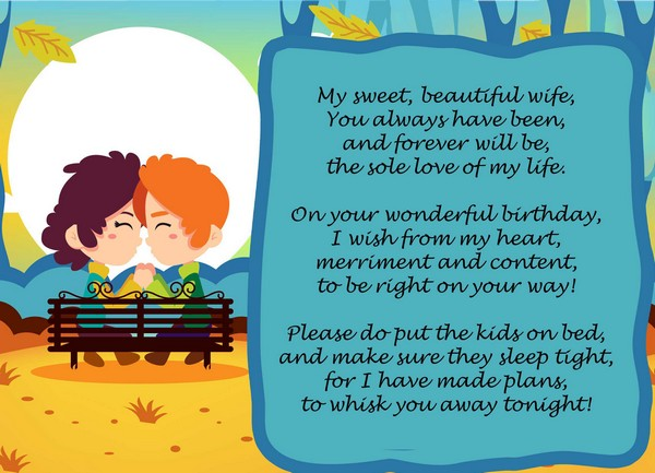 happy birthday love poems for her and happy birthday poems for wife