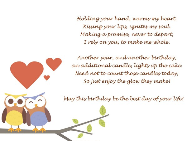 happy birthday poems for her and happy birthday poems for your girlfriend