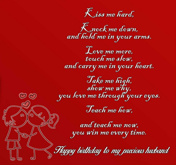 happy birthday poems to my husband