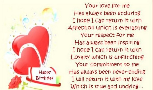sweet happy birthday poems for her