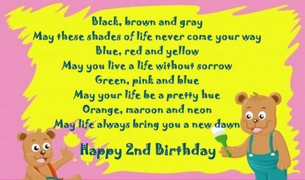 sweet second birthday card greeting