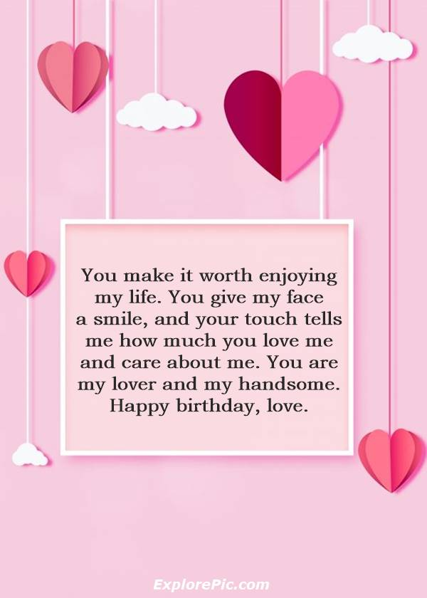 Birthday Love wishes for Him happy birthday quotes for him