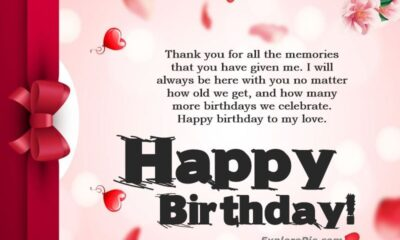 Romantic Birthday Wishes For Love Messages