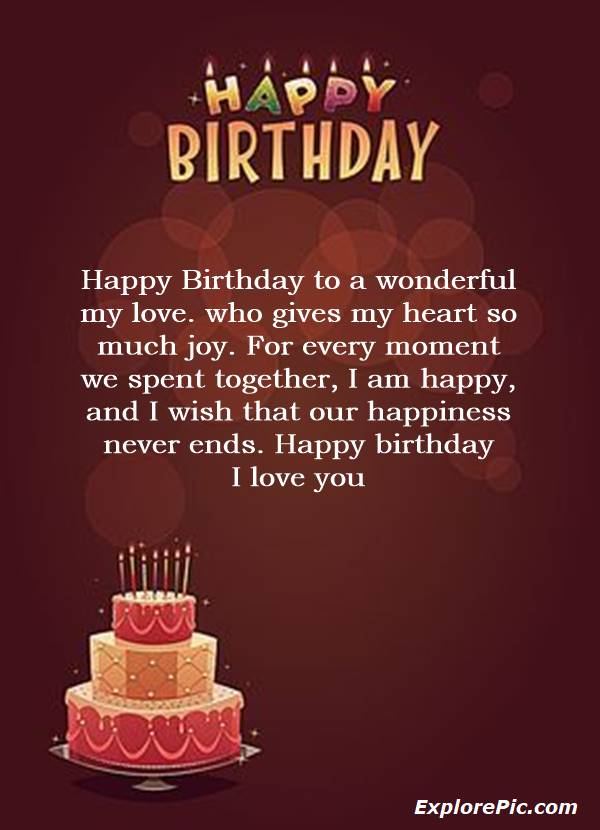 birthday wishes for love happy birthday love message