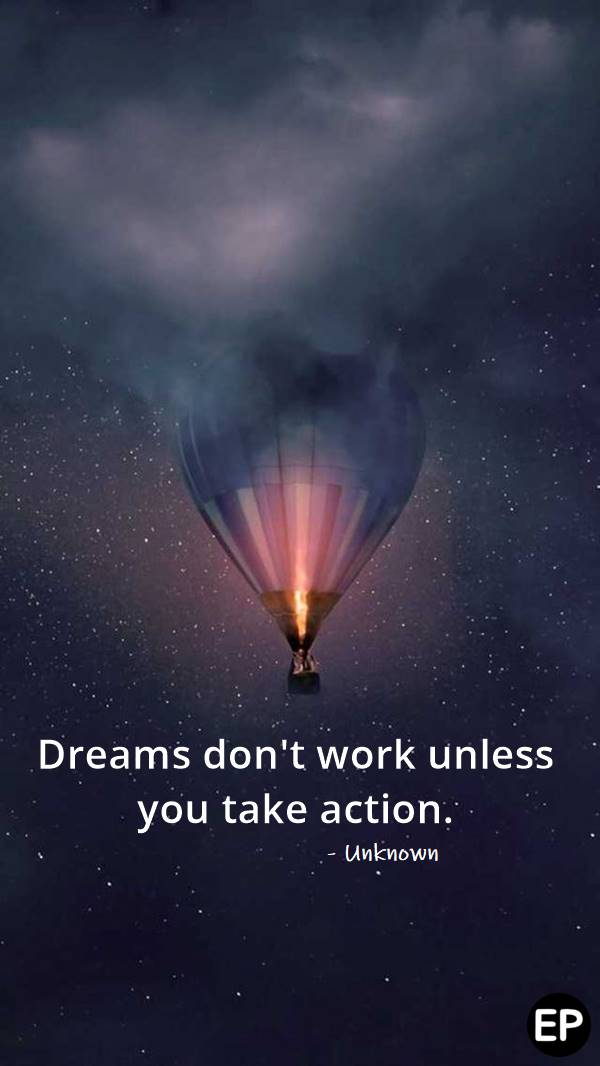 Inspirational quote of the week Thought Clothing Dreams come true quotes Aspiration quotes Work quotes inspirational