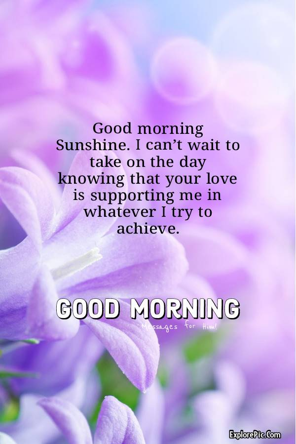 Romantic good morning greetings to husband