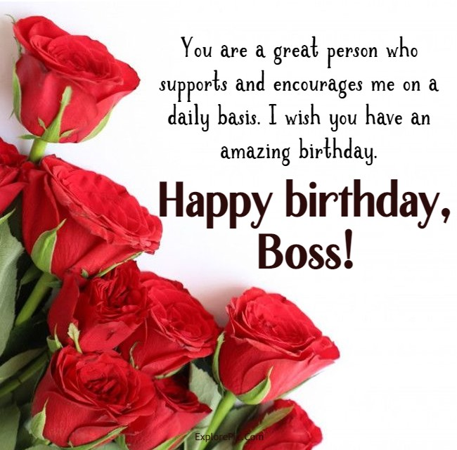 happy birthday to my new boss