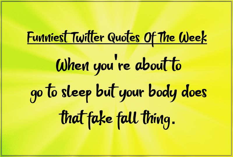 Funniest Twitter Quotes Of The Week