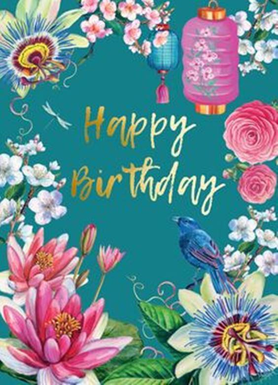 happy birthday flowers