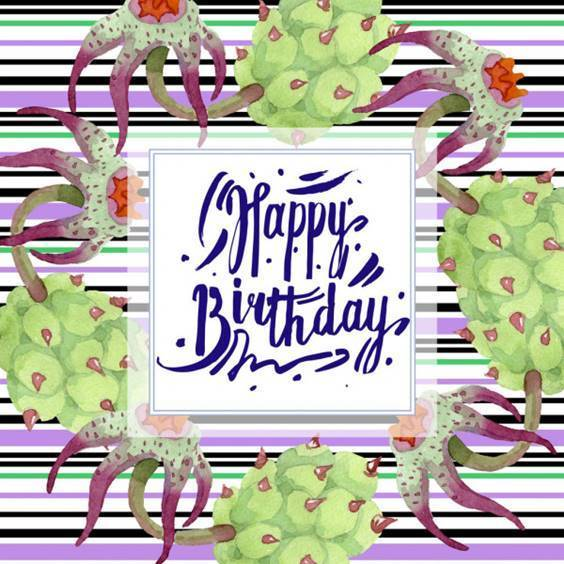 happy birthday card and flowers
