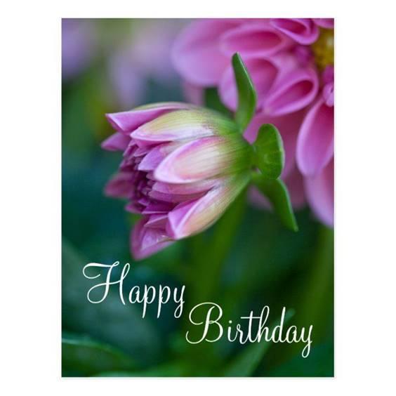 happy birthday female flowers