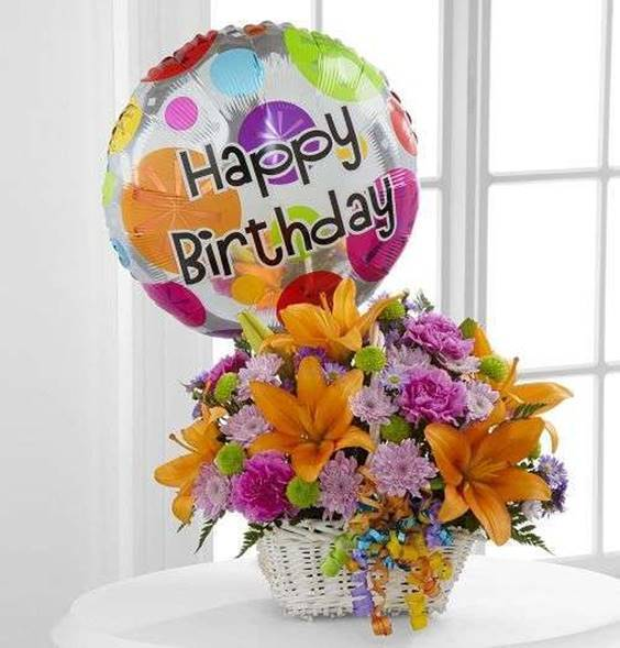 happy birthday images with flowers