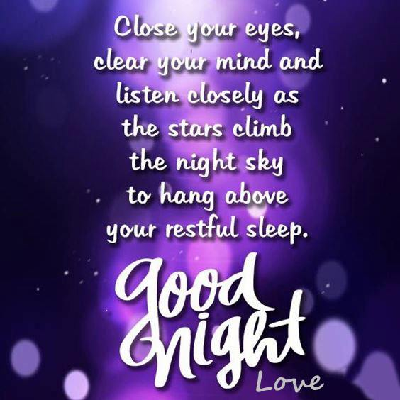 good night msg for love