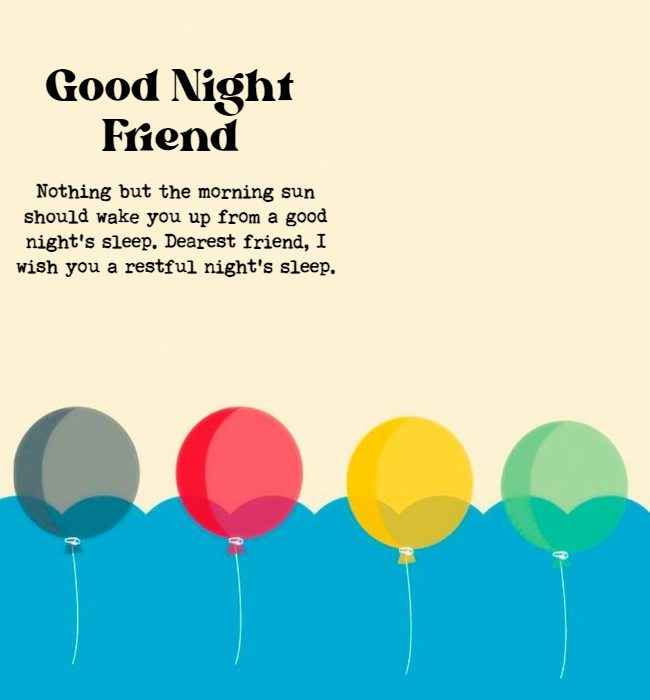 good night quotes for friendship