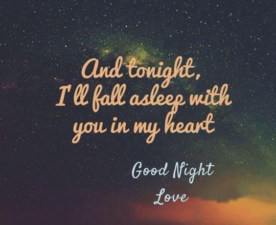 goodnight sweetheart i love you