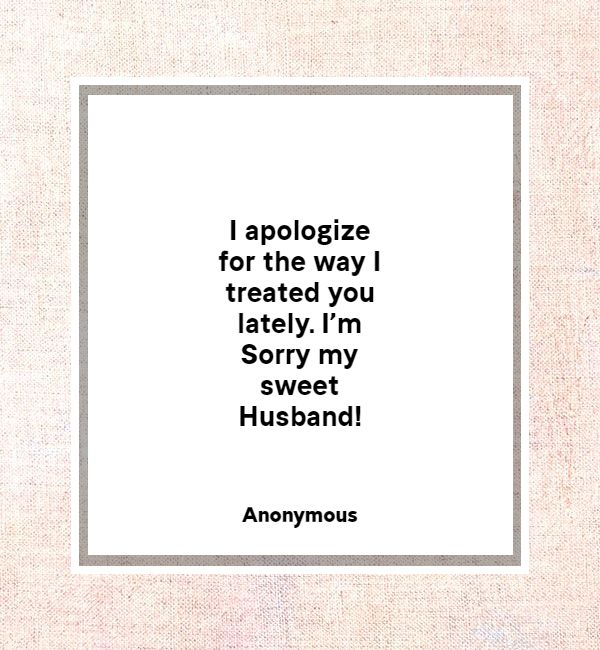 apology message to my husband