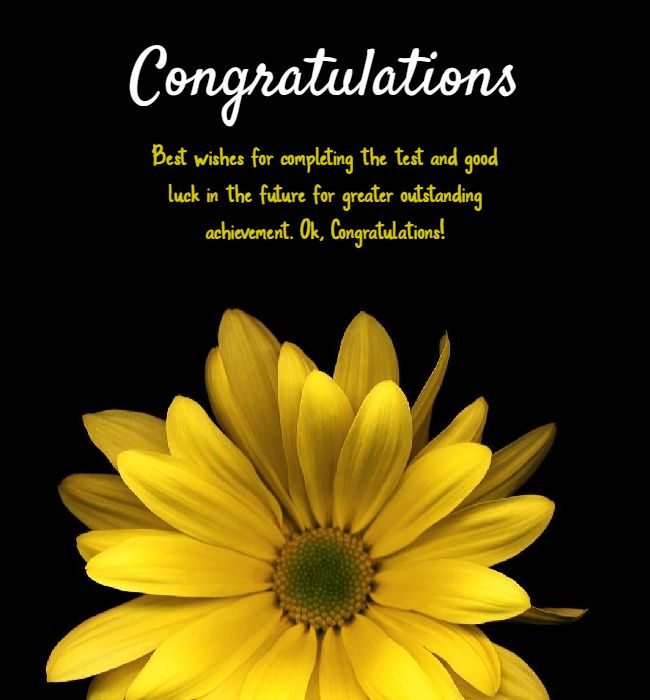 congratulations on passing your exams